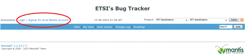 Login Bug Tracker